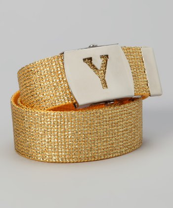 Gold Metallic Initial Belt