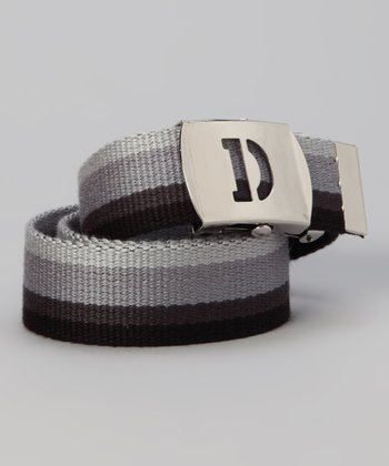 Gray Ombré Initial Buckle Belt