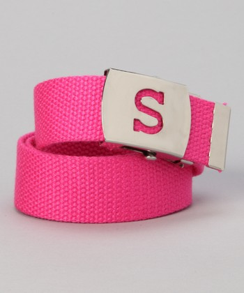 Hot Pink Initial Buckle Belt