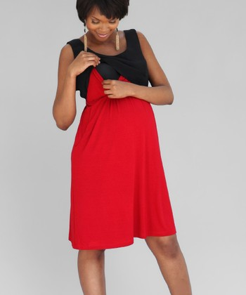 Scarlet Maternity & Nursing Layered Dress