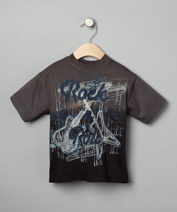 Charcoal 'Rock 'n Roll' Tee - Boys