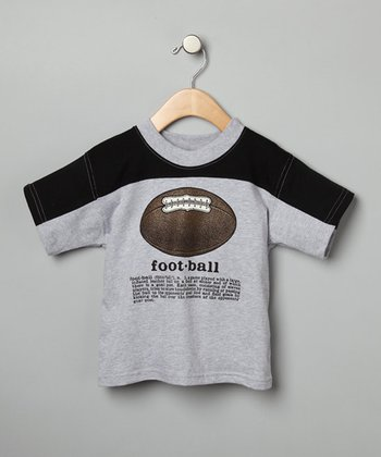 Gray 'Football' Definition Tee - Toddler