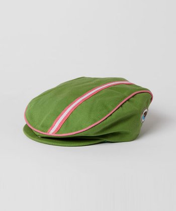 Lime & Fuchsia Newsboy Hat