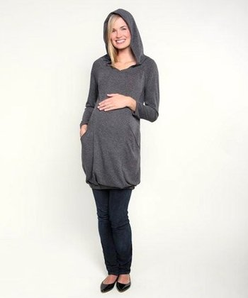 Fierce Mamas Gray Tunic Sweater Hoodie