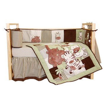Tadpoles Jungle Spa 6-Piece Crib Set