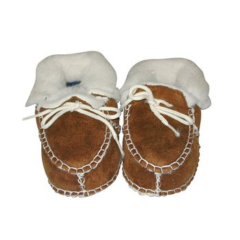 Medium Brown Micro-Suede Booties - Infant