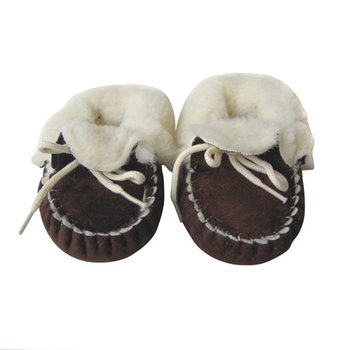 Chocolate Brown Micro-Suede Booties - Infant