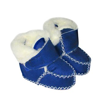 Sky Blue Velcro Micro-Suede Booties - Infant