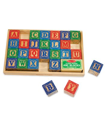 Classic Wooden ABC Blocks