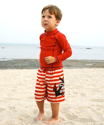 Anchor Stripe Swim Set - Toddler