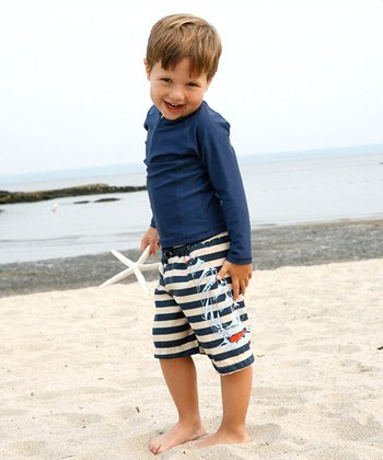 Ship Stripe Swim Set - Infant & Toddler