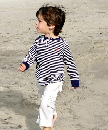 White Roll-Up Beach Pants - Toddler & Boys