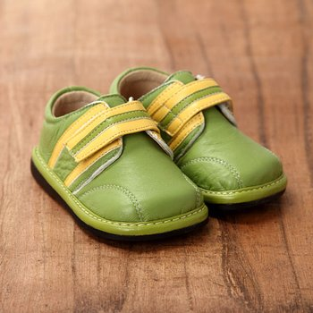 Green and Yellow Striped Shoes  - Infant & Toddler