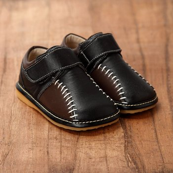 Black and Brown Squeaker Shoes - Infant & Toddler