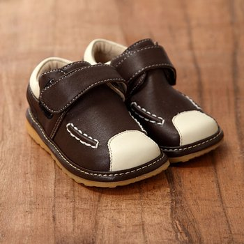 Dark Brown Squeaker Shoes - Infant & Toddler