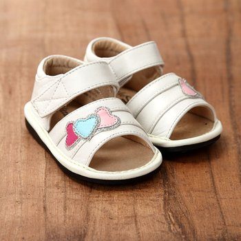 White Heart Sandals - Infant & Toddler