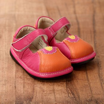 Orange and Pink Mary Jane - Infant & Toddler