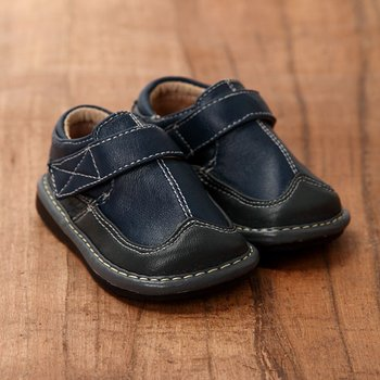 Navy and Charcoal Shoe - Infant & Toddler