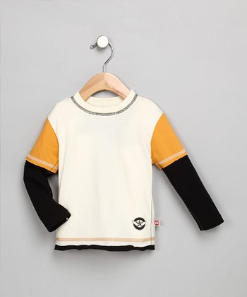Black and Gold Long-Sleeve Shirt - Toddler & Boys