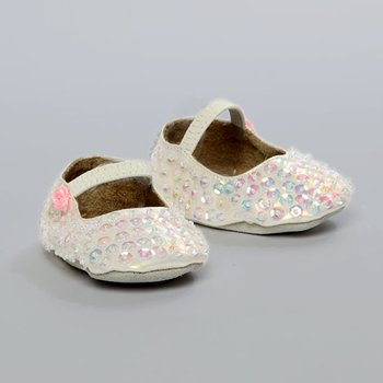 White Lil Tay Ballet Slipper - Infant