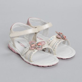 White Alyssa Sandal - Toddler & Girls