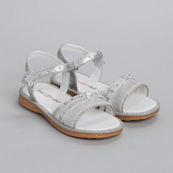 Silver Anna Sandal - Infant, Toddler & Girls