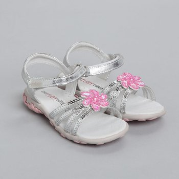 Silver Olivia Sandal - Toddler & Girls