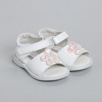White Zoey Sandal - Infant & Toddler