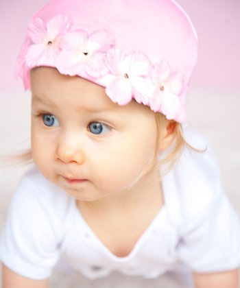 Pink Flower Fairy Beanie - Infant