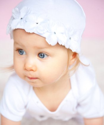White Flower Fairy Beanie - Infant