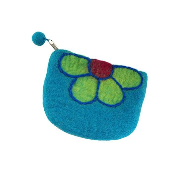 Blue Flower Change Purse