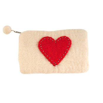 Red Heart Change Purse
