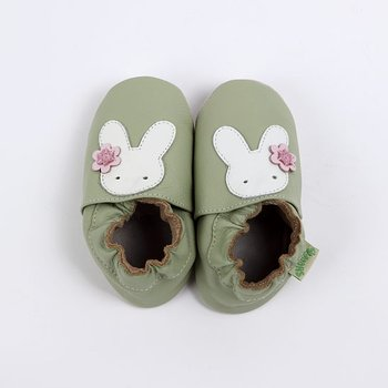 Green Bunny Soft Sole Shoe