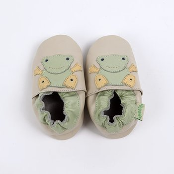 Cream Frog Soft Sole Shoe
