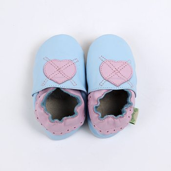 Light Blue Heart Soft Sole Shoe
