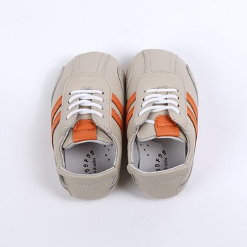 Cream & Orange John Baby Tennis Shoe