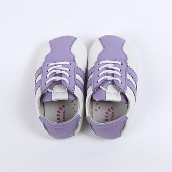 Purple & White Morgen Baby Tennis Shoe