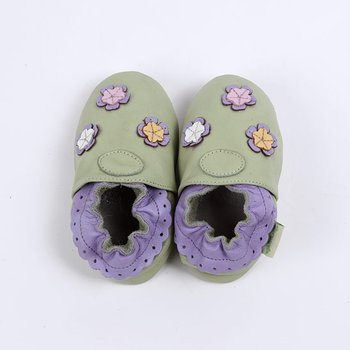 Green Multi-Flower Soft Sole Shoe