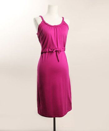 Fuchsia Organic Rope Nursing Nightgown