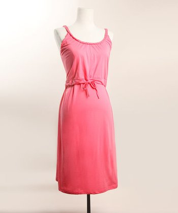 Pink Organic Rope Nursing Nightgown