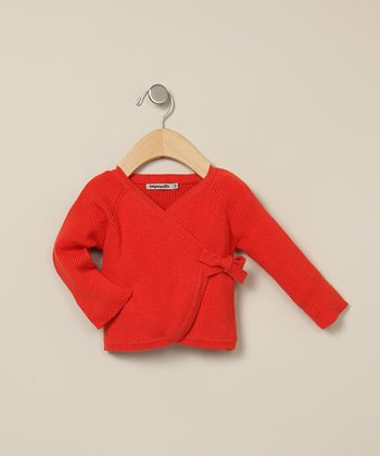 Orange Wrap Cardigan - Infant
