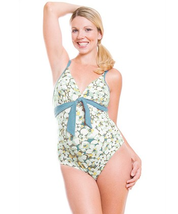 Green Camarga Maternity One-Piece - Women