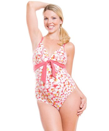 Pez D'Or - Red Camarga Maternity One-Piece