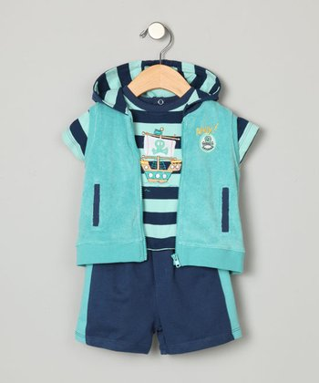 Boys' Pirate Three-Piece Set - Newborn to 9 Months