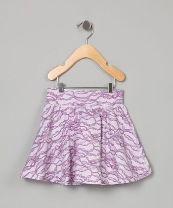 Lavender Lace Mini Skirt - Toddler & Girls