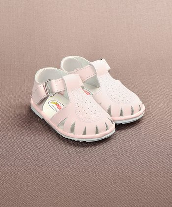 Light Pink Pinpoint Closed-Toe Sandal