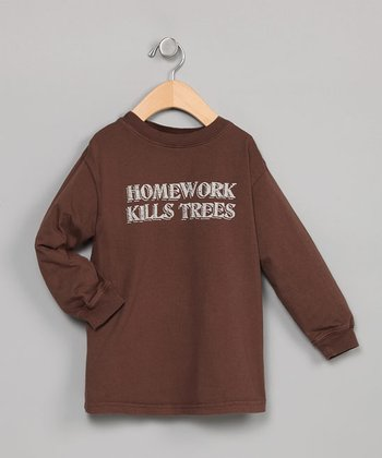 Cocoa Homework Long-Sleeve Tee Shirt -  18 - 24 Months, Toddler & Boys