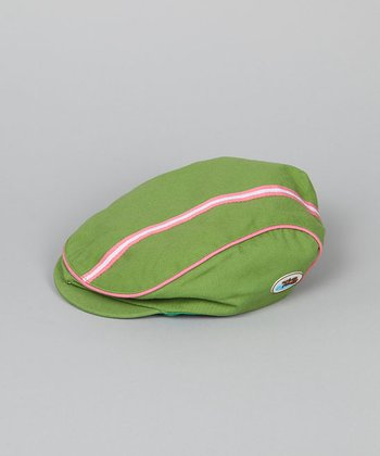 Lime & Pink Newsboy Hat