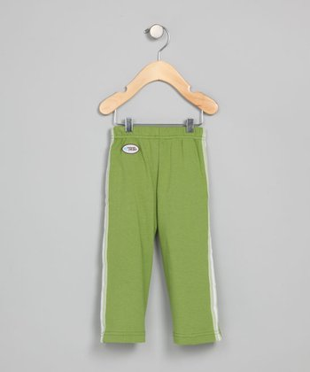 Dark Lime Track Pants - Infant