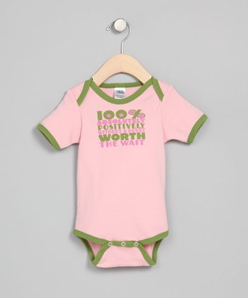 Pink 'Worth the Wait' Bodysuit - Infant